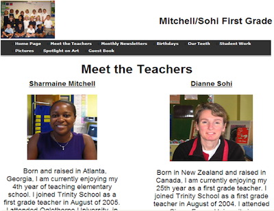 Meet the Teachers Page